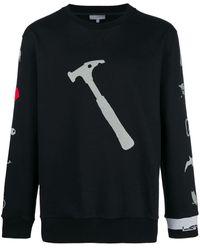 Lanvin プリント スウェットシャツ - ブラック