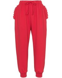 Simone Rocha Frill-trimmed Track Pants - Red