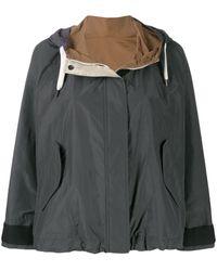 Brunello Cucinelli Легкая Куртка С Капюшоном - Многоцветный
