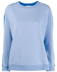 Chinti & Parker Stripe Panel Sweatshirt - Blue