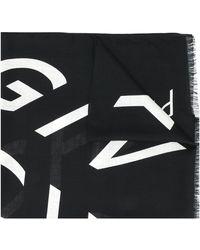 Givenchy Шарф С Бахромой И Логотипом - Черный