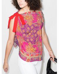 Etro Блузка С Завязками На Плече - Розовый