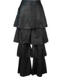 OSMAN Lederhose im Lagen-Look - Schwarz