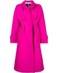 Off-White c/o Virgil Abloh Плиссированное Легкое Пальто Ампирного Силуэта - Розовый