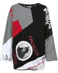 Haculla Gallery Reversible Jumper - Grey