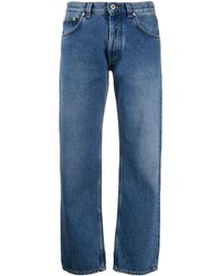 Loewe Flower Embroidery Jeans - Blue