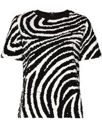 Ashish ゼブラプリント Tシャツ - ブラック
