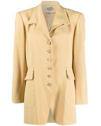Hermès Однобортный Блейзер - Желтый
