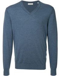 Gieves & Hawkes Vネック セーター - ブルー