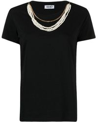 Liu Jo - ネックレスディテール Tシャツ - Lyst