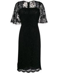 ESCADA レースパネル ドレス - ブラック