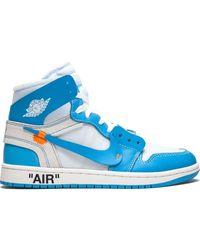 Nike Baskets Air 1 Nike x Off-White - Bleu