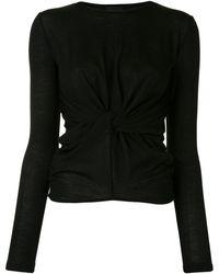 Giambattista Valli ツイスト セーター - ブラック