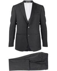 Corneliani Three-piece Striped Suit - Gray