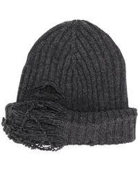 Maison Margiela - Distressed Rib Knit Beanie - Lyst