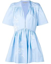 Stella McCartney エンブロイダリー ジャンプスーツ - ブルー