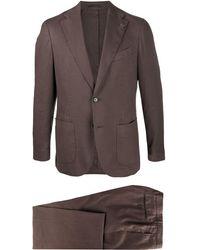 Lardini ツーピース スーツ - ブラウン