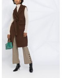 P.A.R.O.S.H. Однобортное Пальто - Коричневый