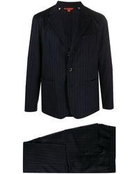 Barena ストライプ ツーピーススーツ - ブルー