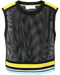 striped mesh tank top - Black No Ka'Oi Comfortable Cheap Sale Pay With Visa Best Place Manchester Online VndynMQ