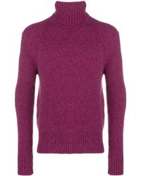 AMI Turtle Neck Sweater - Pink
