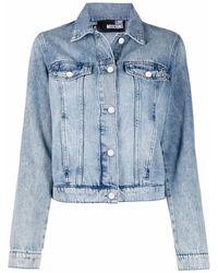 Love Moschino Джинсовая Куртка С Вышитым Логотипом - Синий