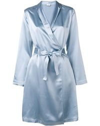 La Perla Satijnen Kimono Japon - Blauw