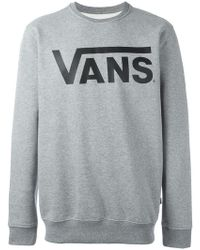 Vans - Classic Crew Sweatshirt In Grey V00yx0ady - Lyst