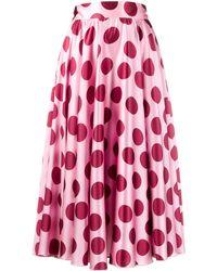 Dolce & Gabbana - ポルカドット プリーツスカート - Lyst