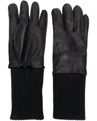 AMI Leather Gloves - Black
