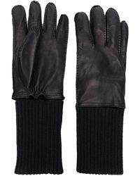AMI Leather Gloves - Black