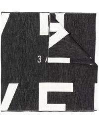 Givenchy Sjaal Met Logo - Zwart
