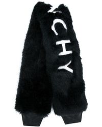 Givenchy Furry Logo Embellished Bag Strap - Black