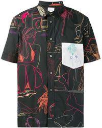 Paul Smith Hemd mit Print - Schwarz