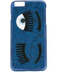 Chiara Ferragni Flirting Glitter Iphone 6/6s Plus Case - Blue