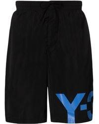 Y-3 ロゴ トランクス水着 - ブラック