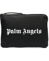 Palm Angels ロゴ クラッチバッグ - ブラック