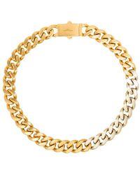 Saint Laurent Halskette mit breiten Gliedern - Mettallic