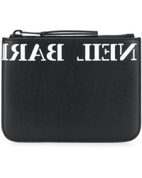 Neil Barrett ファスナー 財布 - ブラック