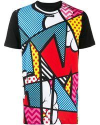 Frankie Morello Pop Art Print T-shirt - Black