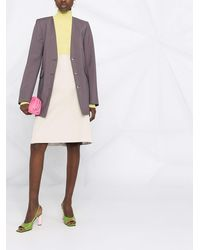 Nina Ricci Straight-cut Skirt - Grey