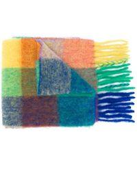 Acne Studios Geruite Sjaal - Blauw