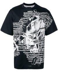 Nicopanda - 'nicopanic' Negative Print T-shirt - Lyst