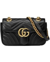 Gucci GG Marmont Matelass� Mini Tas - Zwart