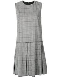 RED Valentino - Checked Flared Dress - Lyst