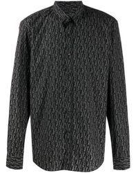 Ferragamo Рубашка С Логотипом - Черный