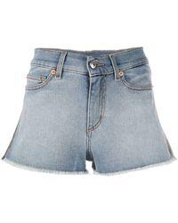 Zadig & Voltaire Frayed Denim Shorts - Blue