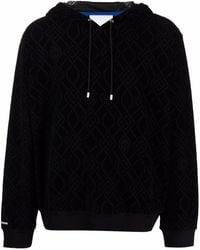 Koche Jacquard-logo Drawstring Hoodie - Black
