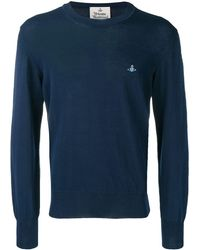 Vivienne Westwood ラウンドネック セーター - ブルー