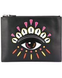KENZO Kontact Eye A4 Clutch Bag - Black